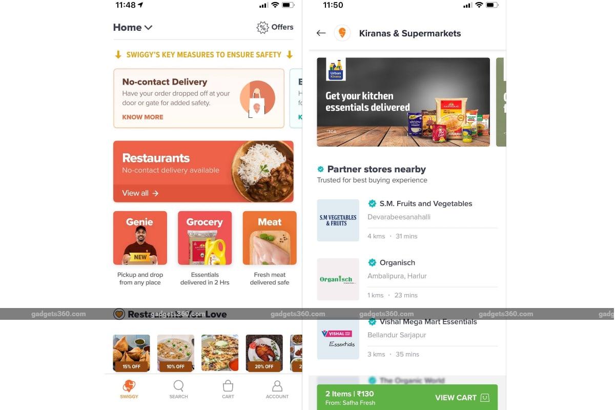 swiggy grocery delivery screenshots gadgets 360 Swiggy  Swiggy Grocery