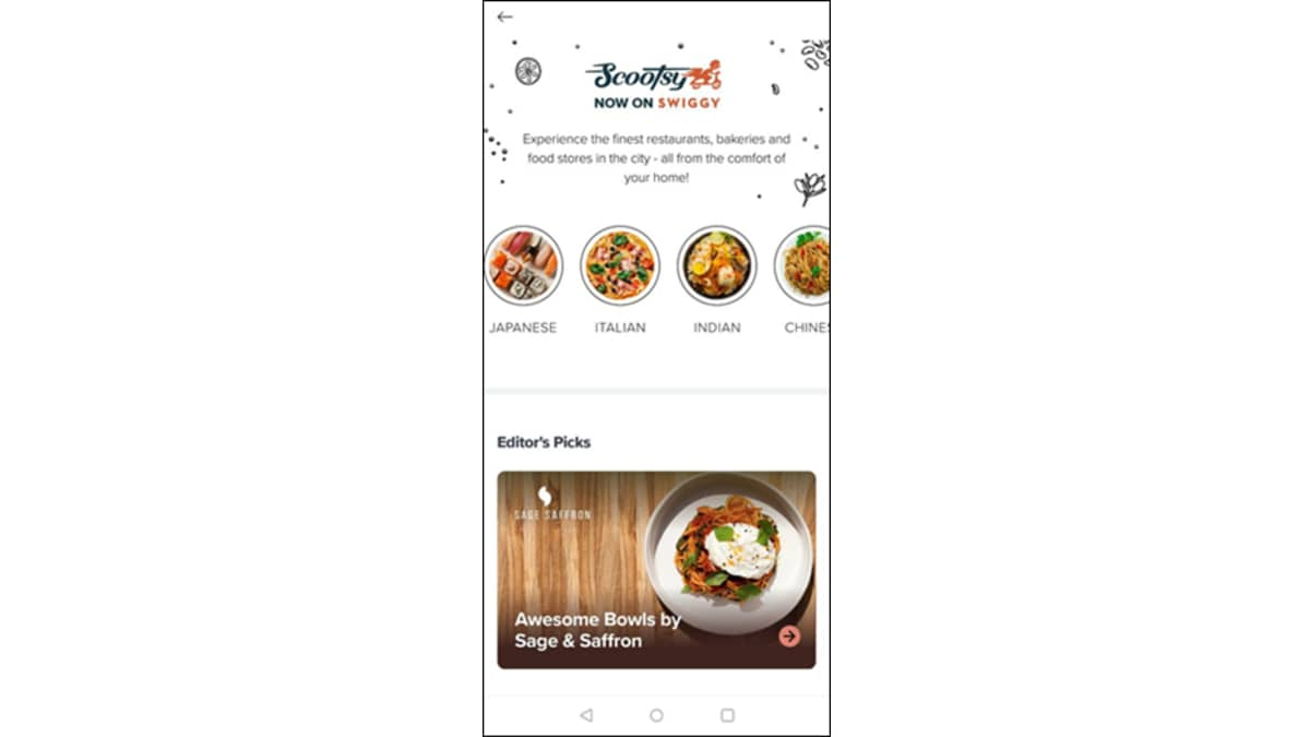 swiggy scootsy screenshot Swiggy  Scootsy