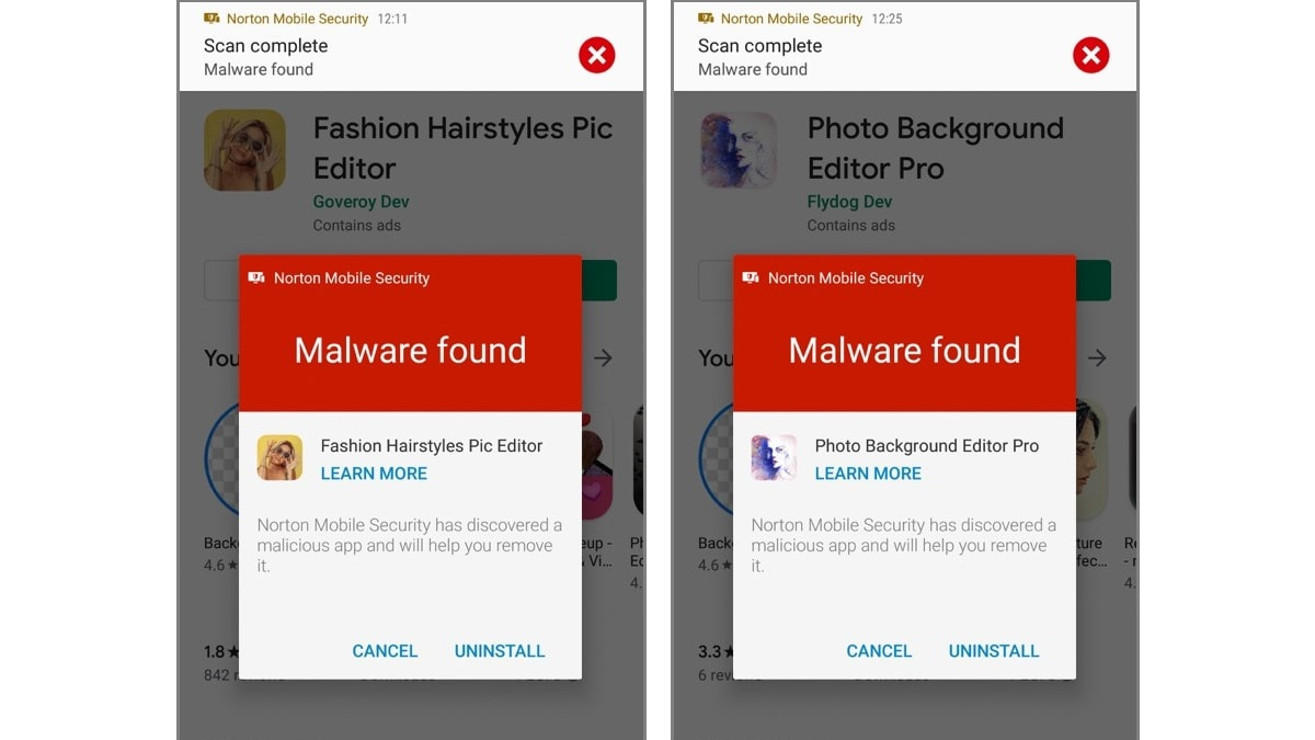 25 Android Apps With 2.1 Million Downloads Removed From Google Play Due to Adware: Symantec