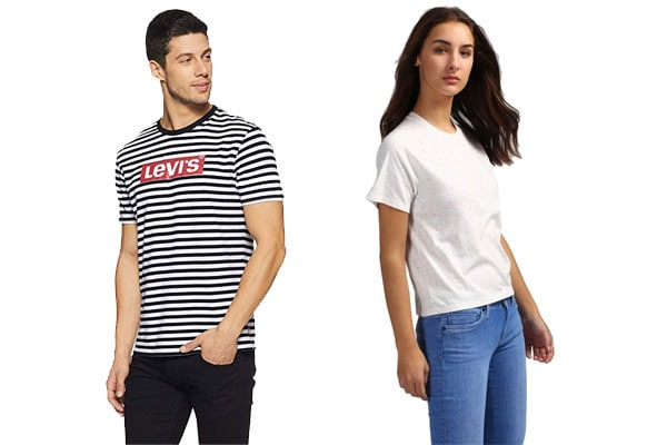 best t shirt brands in India levis