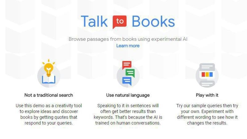 Google AI Tech Will Let You 'Talk to Books'