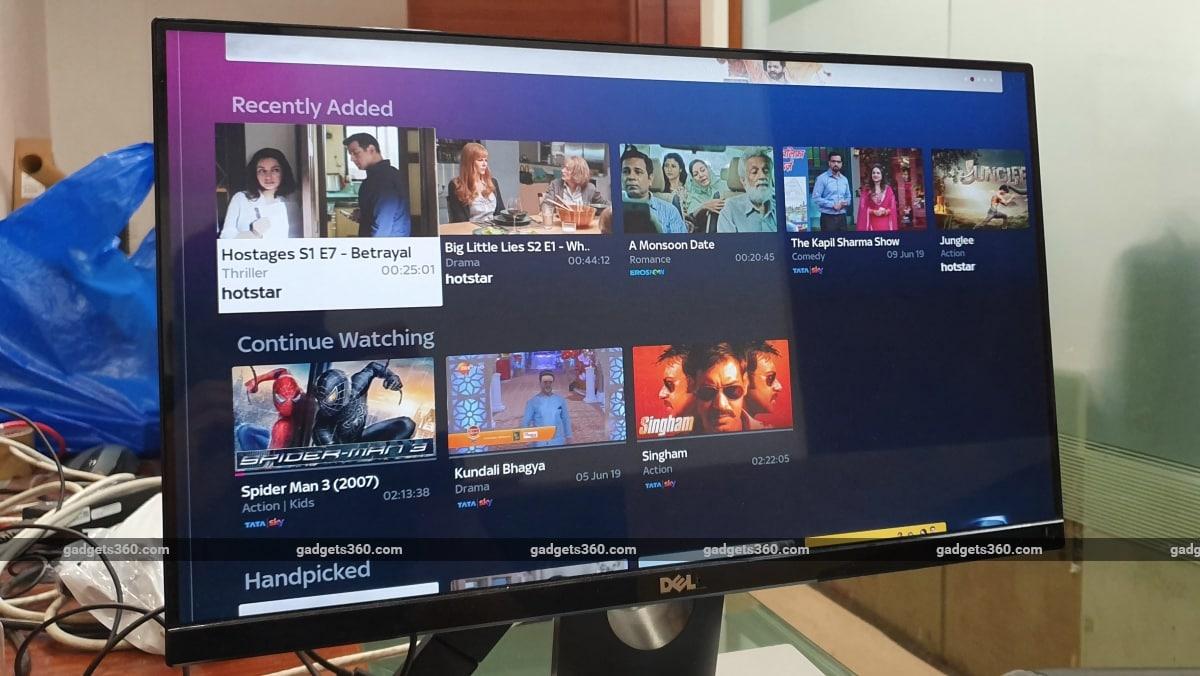 tata sky binge review menu Tata Sky Binge