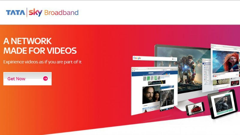 To Take on Jio GigaFiber, Tata Sky Broadband With Up to 100Mbps Speed Launched in 12 Indian Cities
