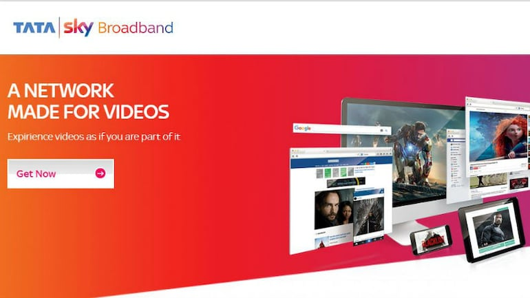 Tata Sky ब्रॉडबैंड  दे रहा 100Mbps तक की स्पीड, 12 शहरों में उपलब्ध है सर्विस