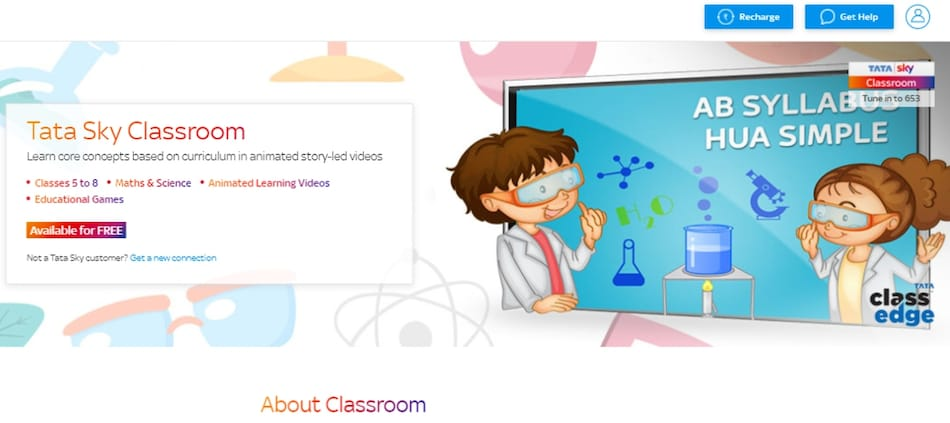 Tata Sky Classroom Education Service Now Free for All Subscribers: All the Details