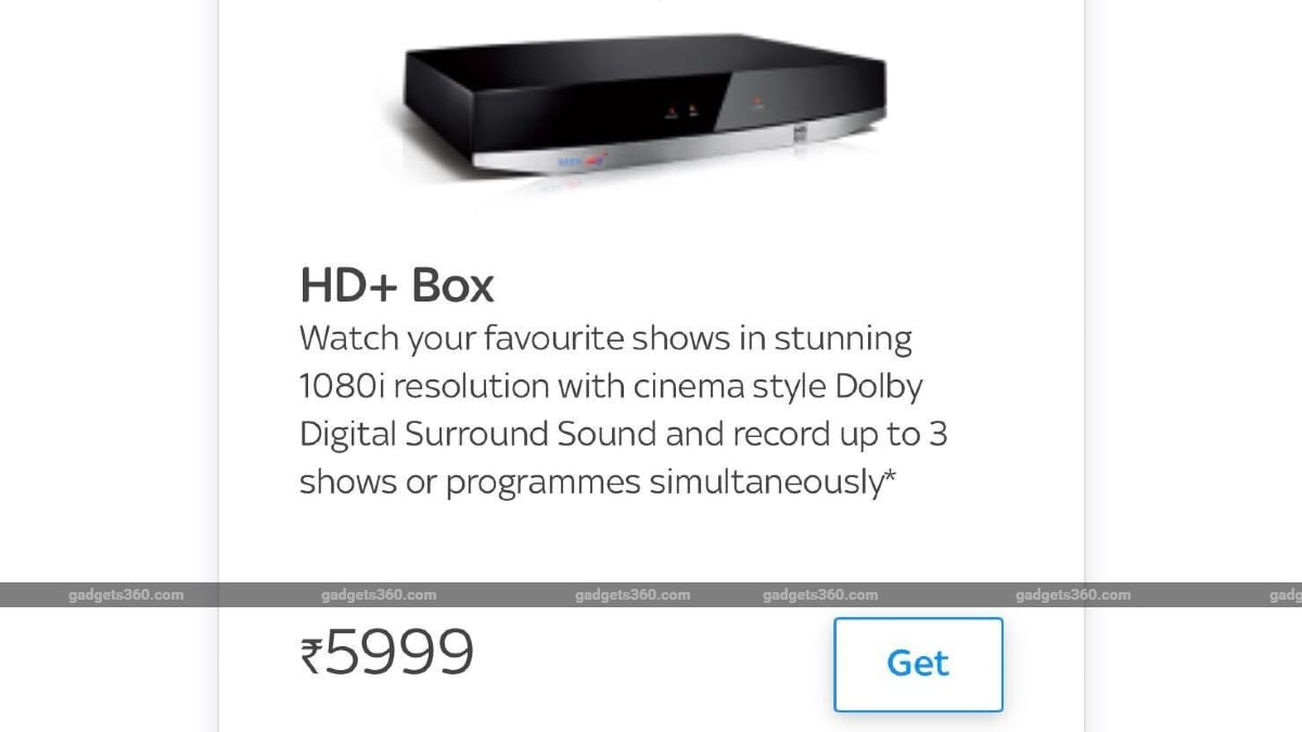 Tata Sky HD+ Upgrade Price Reduced to Rs. 5,999 for Existing Subscribers