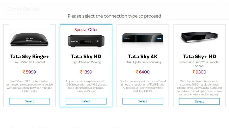 Tata Sky Discontinues Its SD Set-Top Box, Offers HD Option as Minimum for New Customers
