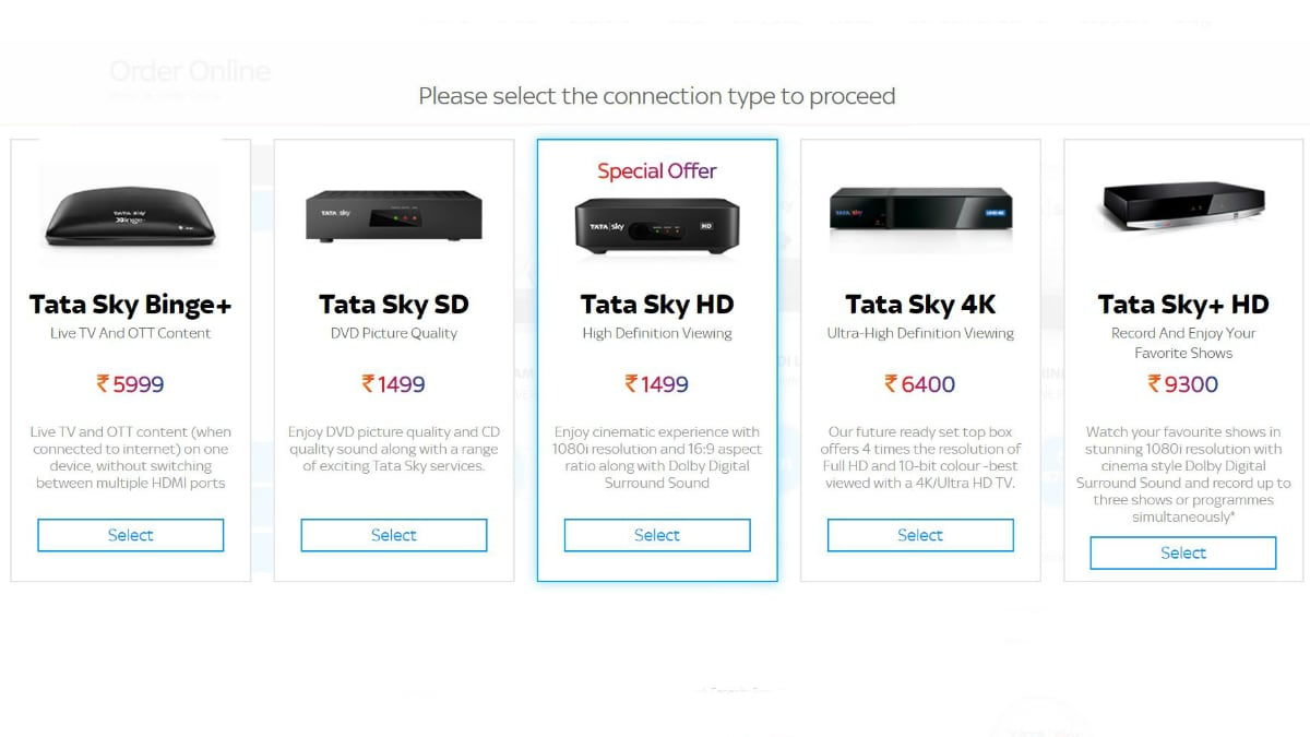 Tata Sky Hikes HD, SD Set-Top Box Prices in India by Rs. 100