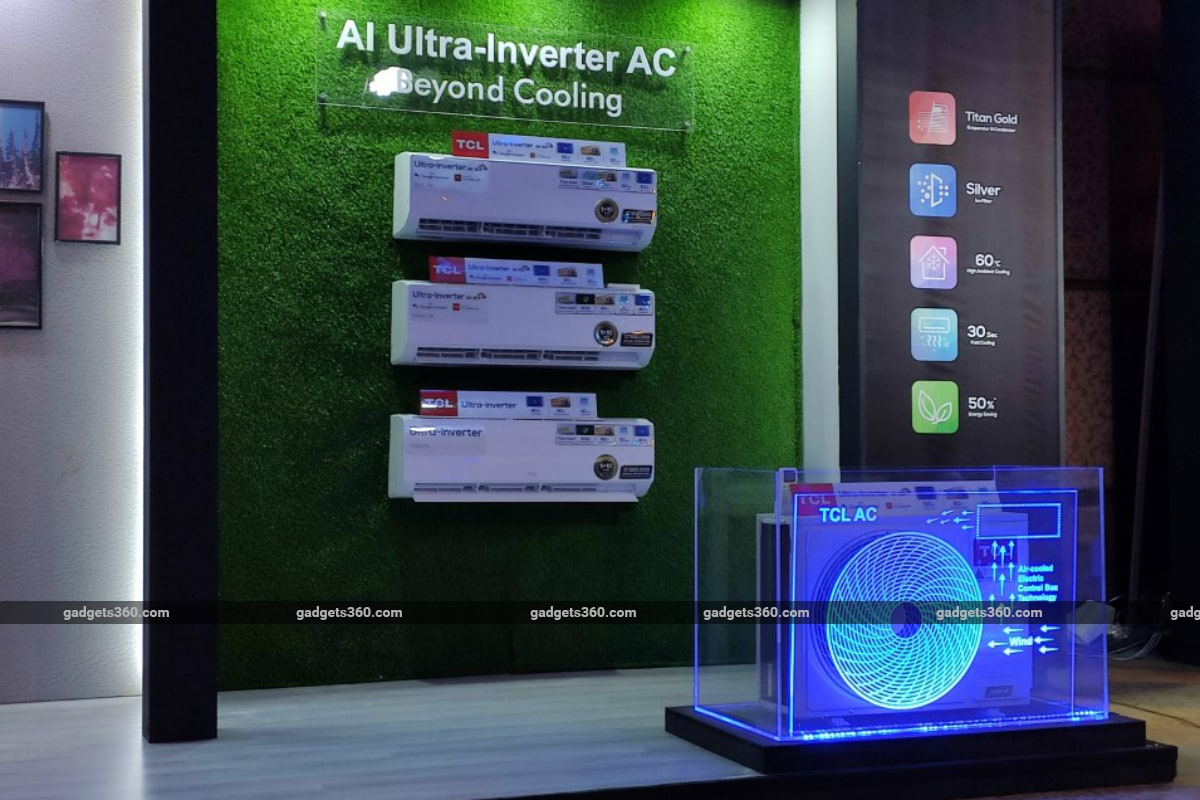 tcl ai ultra inverter ac india launch gadgets 360 TCL AI Ultra-Inverter AC