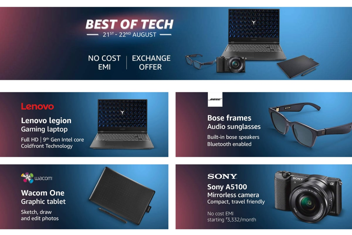 Amazon Best of Tech Sale Brings Deals on Laptops, Wearables, Cameras, and Other Electronics
