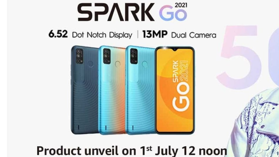 Tecno Spark Go 2021 India Launch Date Set for July 1, Amazon Page Reveals Key Specifications