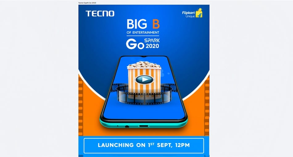Tecno Spark Go 2020 to Launch in India Tuesday, Flipkart Availability Confirmed
