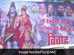 Day Before Wedding, Tej Pratap Yadav, Wife Are 'Shiva-Parvati' In Poster