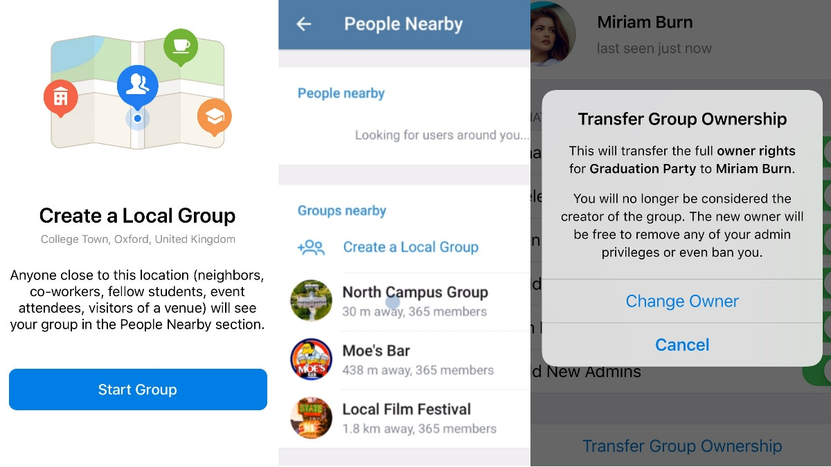 Telegram 5.8 Brings the Ability to Add Nearby Contacts, Create Local Groups, Transfer Admin Rights