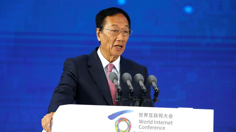 Foxconn Chairman Terry Gou Says Aims to Step Down to Pave Way for Younger Talent