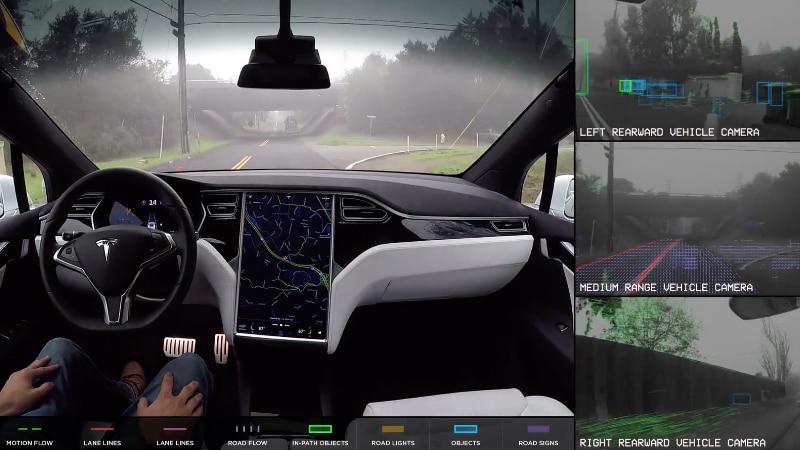 Tesla Shows Off Its Self-Driving Car Technology on Video