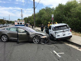 Tesla Hits Parked California Police Vehicle, Driver Blames 'Autopilot'