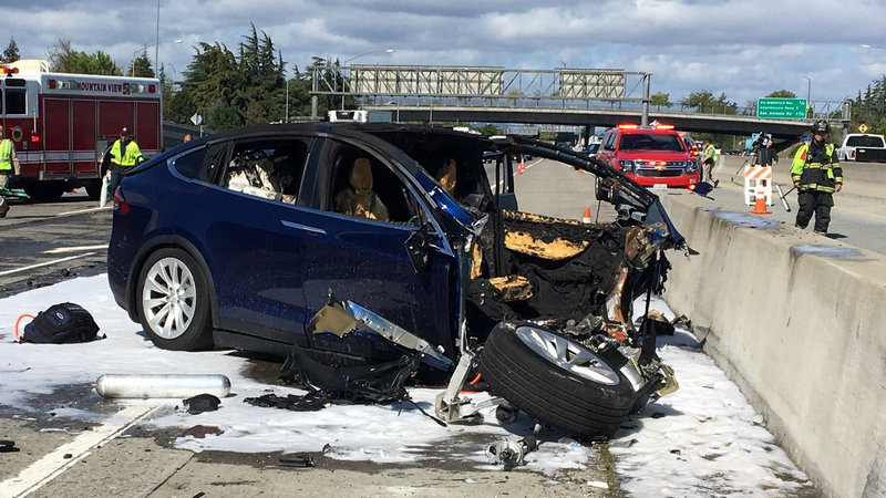 Tesla Says Crash Was Worsened by Missing Freeway Barrier Shield