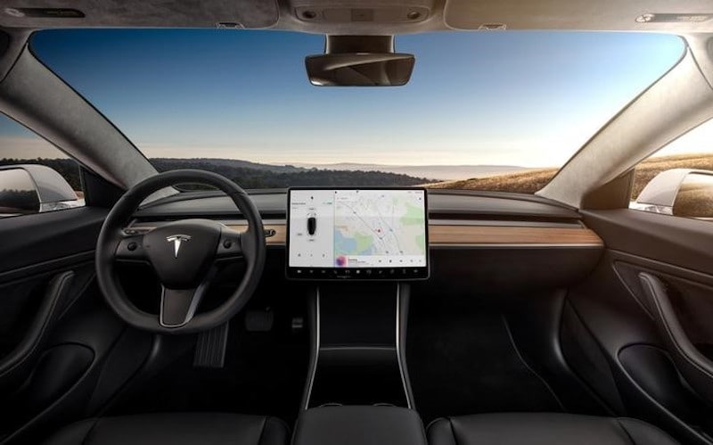 tesla model 3 interior reuters Model 3