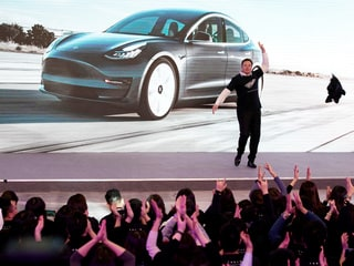 Elon Musk's Dance Moves Launch Tesla SUV Programme at New China Factory
