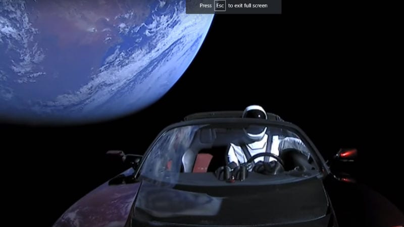 Elon Musk's Space Tesla May Crash Into Earth in the Next Million Years