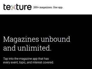 Apple Buys Texture Magazine Service in Subscription Push