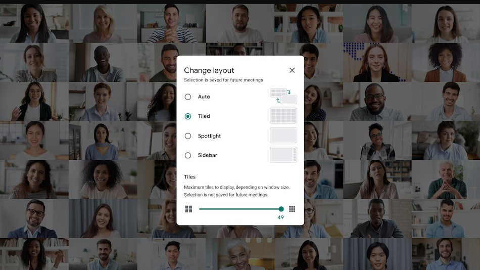 Google Meet Starts Getting 49-Person Grid View, Background Blur Feature