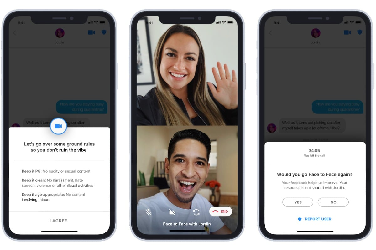 Tinder Expands Its In-App Face-to-Face Video Chat Feature Globally [Update]  | Technology News