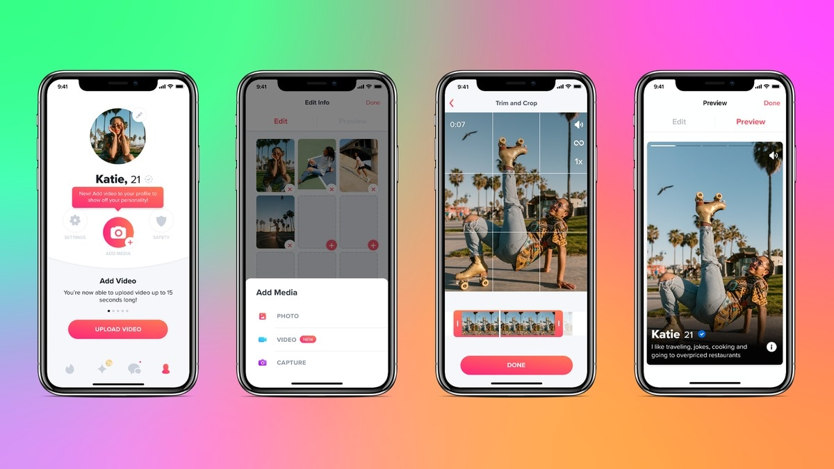 Tinder Users Can Now Add Videos to Their Dating Profiles, Find Matches Based on Shared Interests