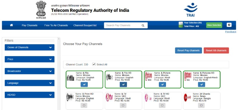TRAI Channel Selector Application Introduced to Help Users Choose