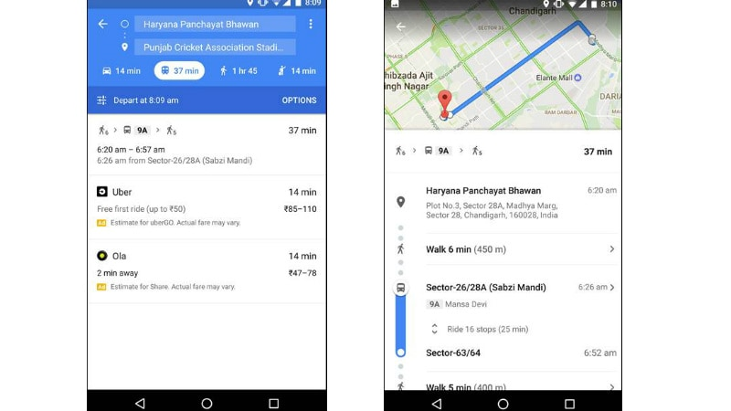 Google Maps 'Transit' Public Transport Feature Expands to 7 More Indian Cities