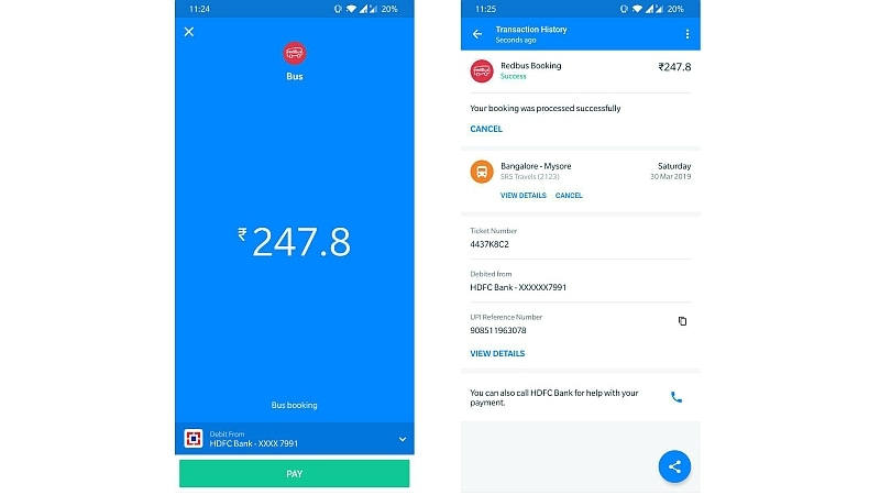 truecaller pay bus ticket booking experience Truecaller  RedBus