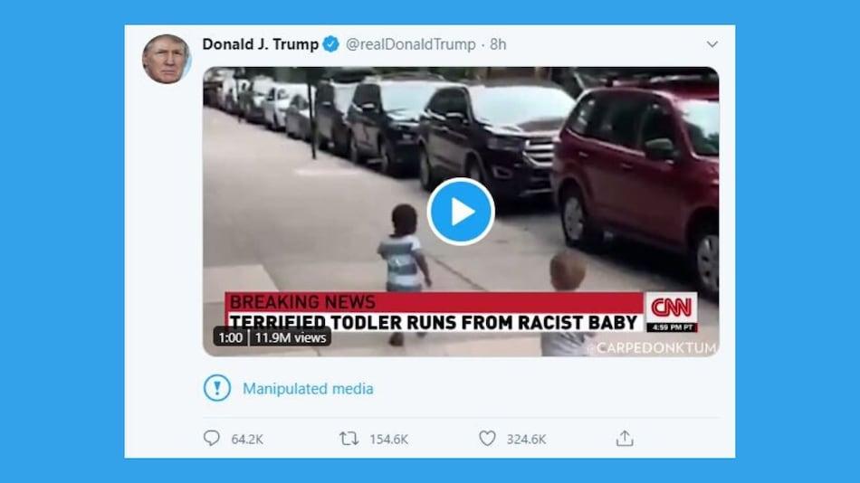 Twitter Labels Trump's Tweet as 'Manipulated Media'