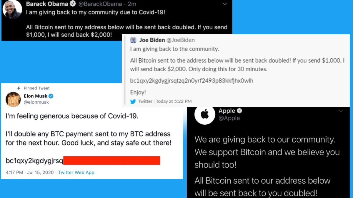 Twitter Hack: Apple, Bill Gates, Barack Obama, Elon Musk, Other High-Profile Accounts Hacked in Bitcoin Scam