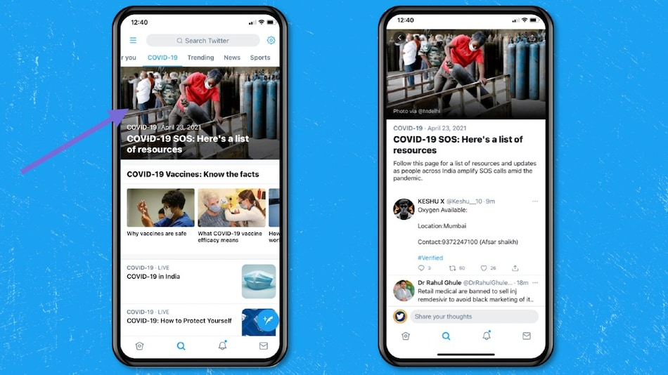 Twitter Announces Updates to Ease COVID-19 Resource Searches in India