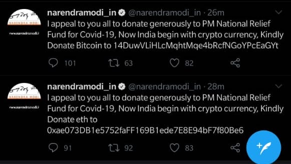 Narendra Modi's Twitter account hacked