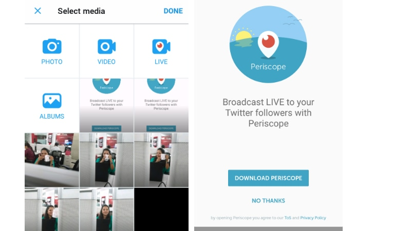 Twitter Live Video Launched With Periscope Integration In-App