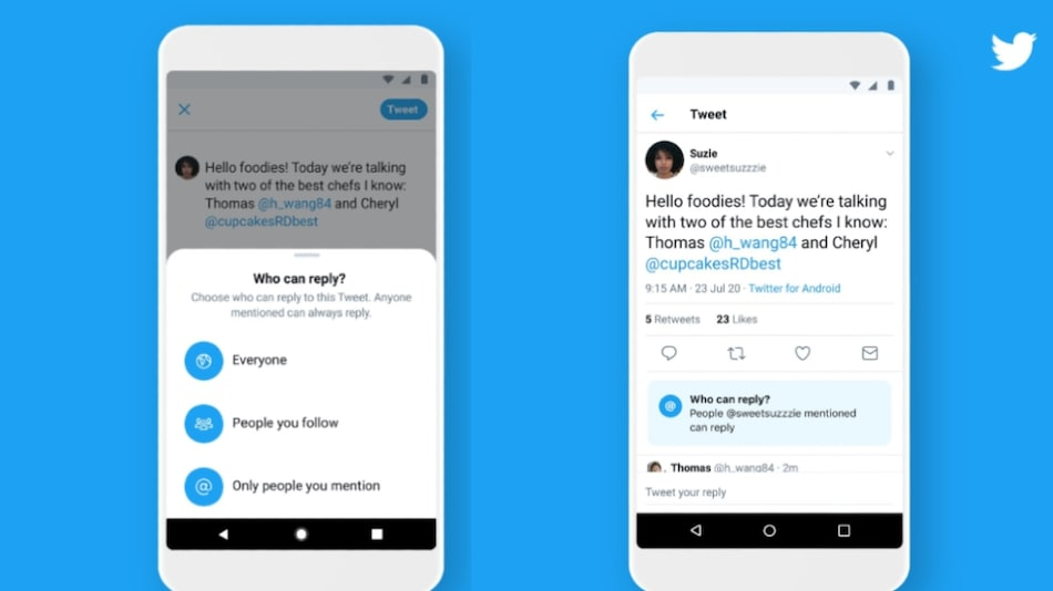 Twitter Rolls Out Limited Reply Feature to Everyone, Lets Users Decide Who Can Respond to Their Tweets