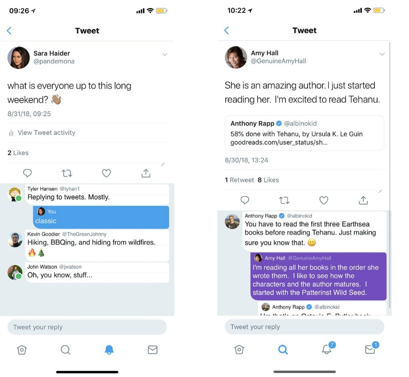 twitter testing features sara haider Twitter