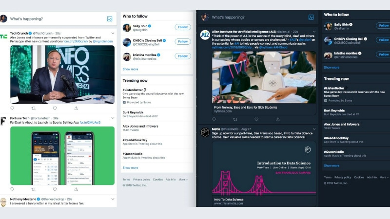 Twitter Tests New Web Interface, iOS Update Brings Audio-Only Broadcasts