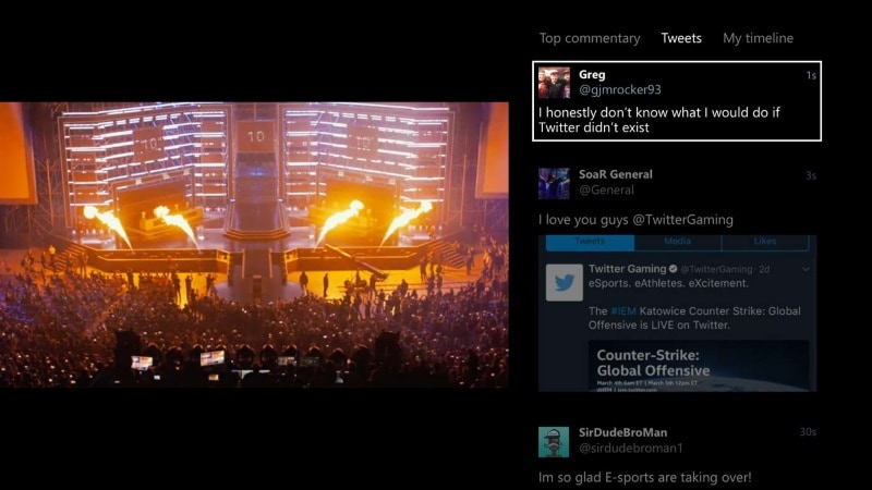 Xbox One's Twitter App Now Lets You See Your Timeline While Watching Videos