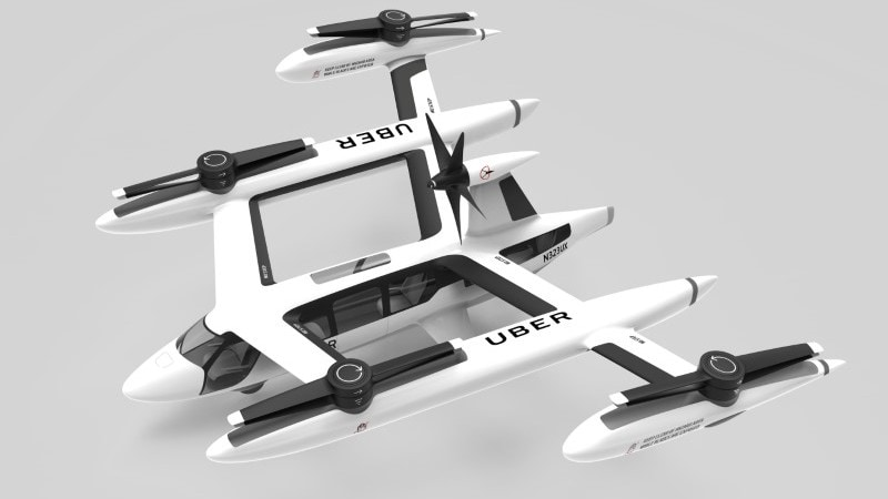 Uber Shows Off Its Vision for Future 'Flying Taxi'
