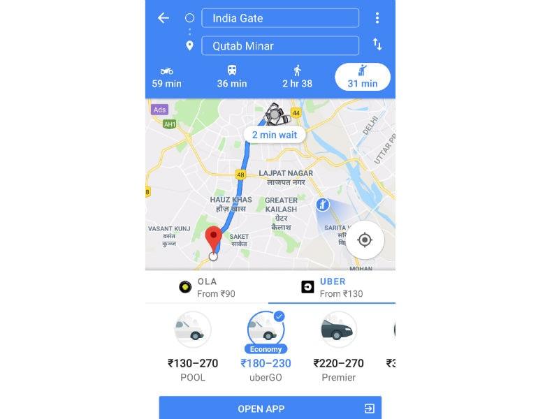 uber google maps gadgets360 Google Maps  uber