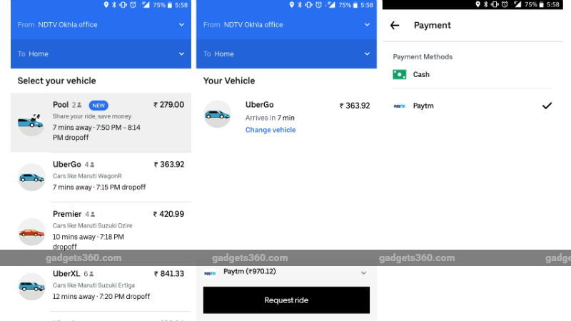 Uber Lite Android App Now Lets You Book Pool Rides, Make Payments via Paytm