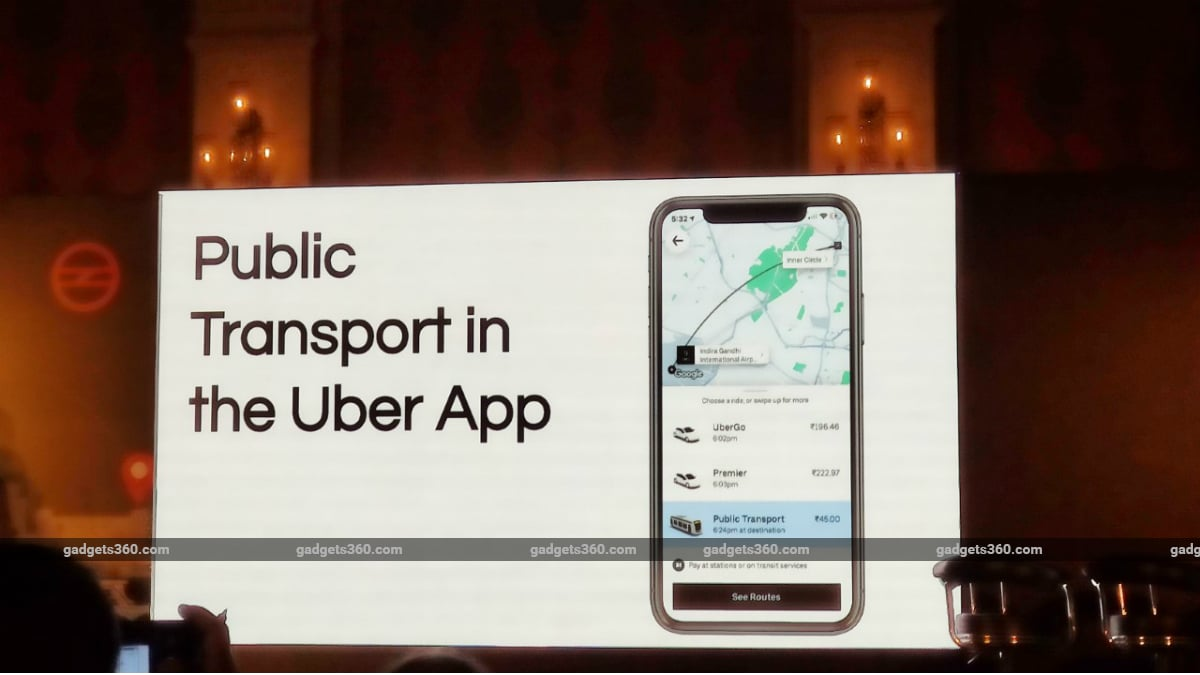 Uber launches public transportation services in India