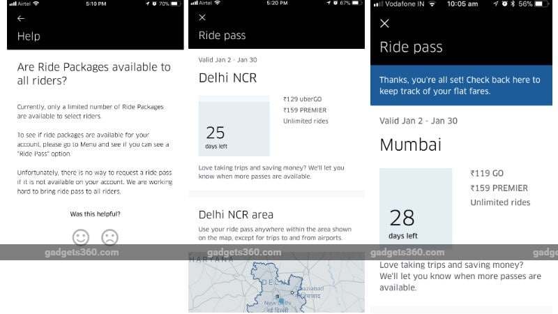 Uber Ride Packages With Flat Fares Start Rolling Out in 7