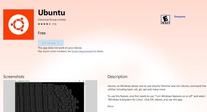 Ubuntu Linux Distro Now Available on the Windows Store