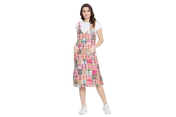 un Pink Pinafore Dress 1611946979533