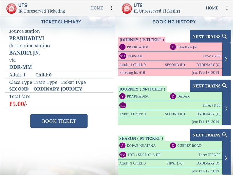 How to Book Local Train Tickets Online Using the UTS App