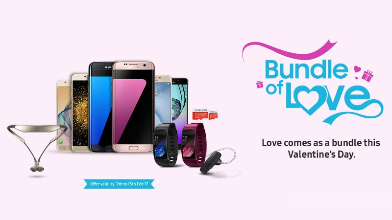 Samsung Valentine's Day Offers Include Smartphone Bundle Deals, Gear Fit 2 Discount